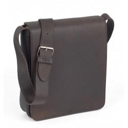 besace cuir brun - Vertical