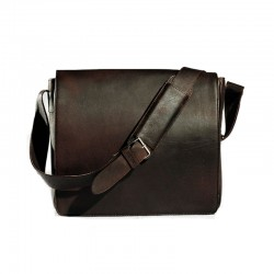 cartable besace cuir marron
