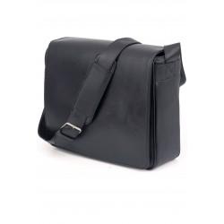 cartable besace cuir noir